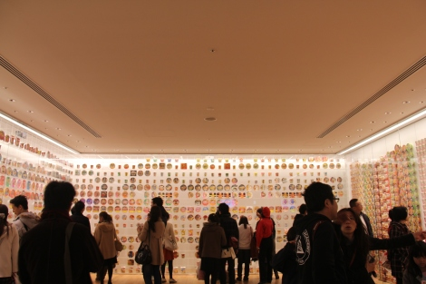 Wall of instant noodles