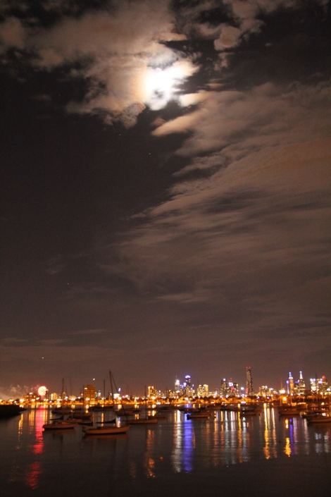The night view of Melbourne from St. Kilda