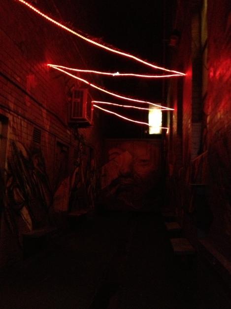 Dark alleyways in Melbourne.....