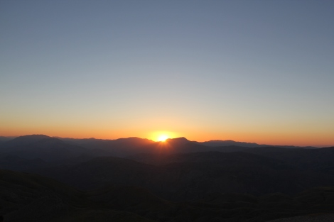 Saying goodbye to the sun.
